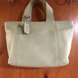 Coach pale green satchel NEW bag!